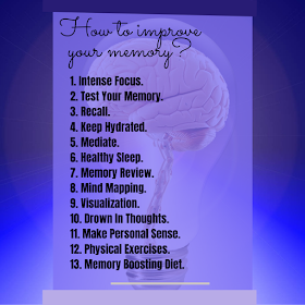 How to improve your memory? 13 Tips to remember almost anything.