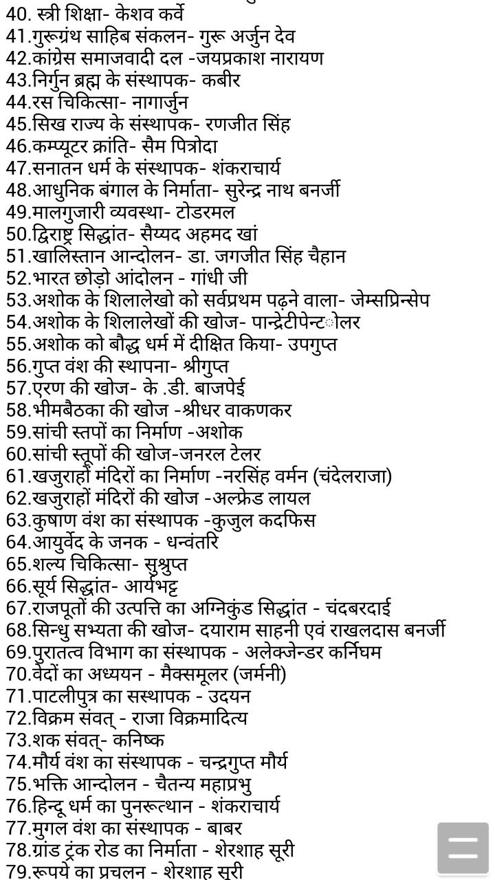 Topics of Lucent GK PDF in Hindi