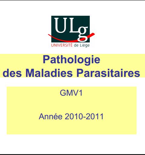 Maladies parasitaires des Bovins - WWW.VETBOOKSTORE.COM