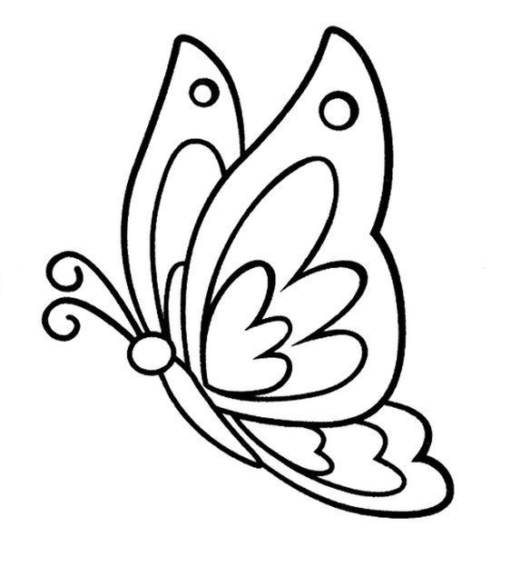 Tranh tô màu con bướm trang trí