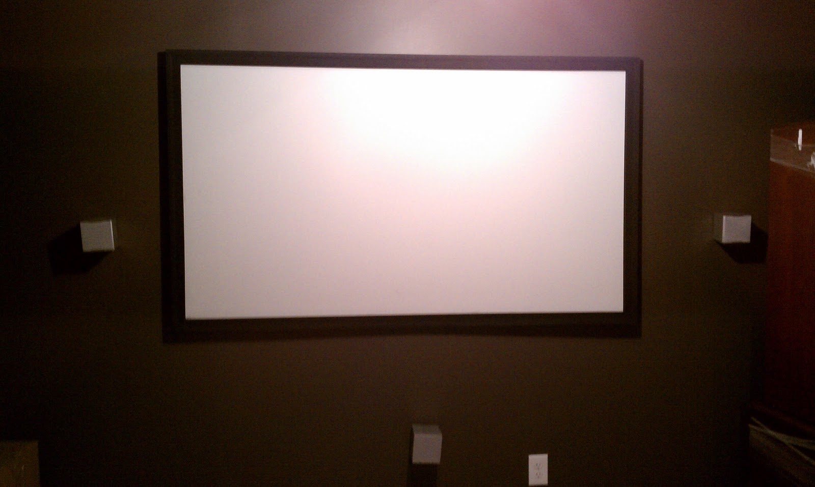 Home Theater Projector Screen After The Paint