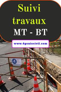 Suivi travaux moyenne tension basse tension MT - BT