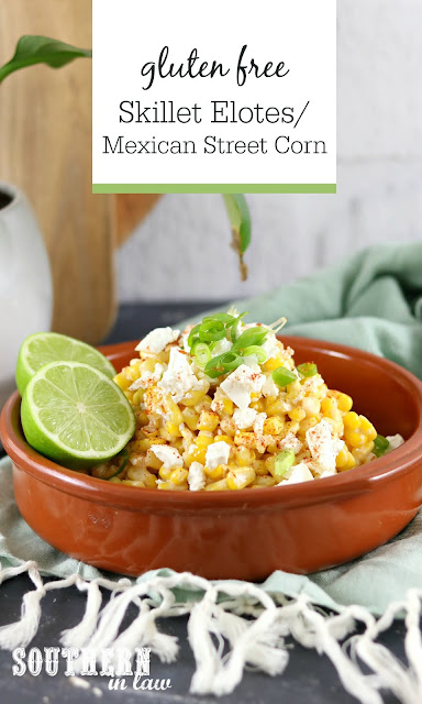 Skillet Elotes Mexican Street Corn Recipe - gluten free, low fat, clean eating recipe, easy salad recipes, side dish