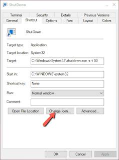 Cara Membuat Tombol ShutDown pada Windows