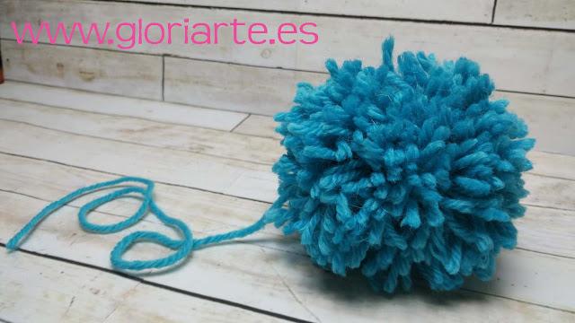 pompón de lana fácil