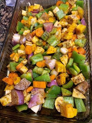 parsnip, carrot, beet, marinade, roasted veg