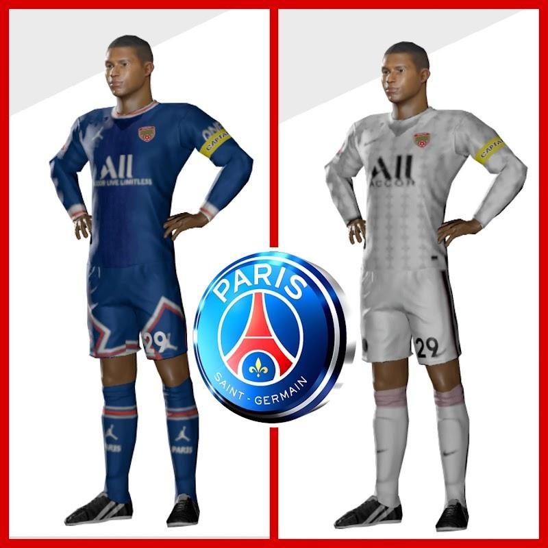 Kit PSG - Paris Saint-Germain 2022 & Logo Dream League Soccer