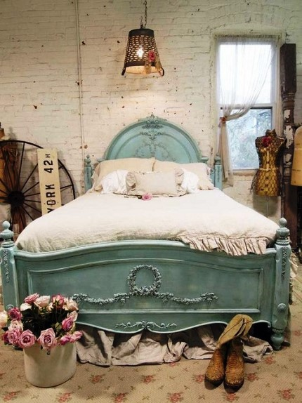 cheap vintage french blue distressed bedroom furniture