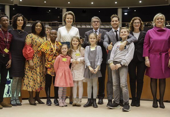 UN Convention of the Rights of the Child at the European Parliament in Brussels. Dries Van Noten and Diane von Furstenberg