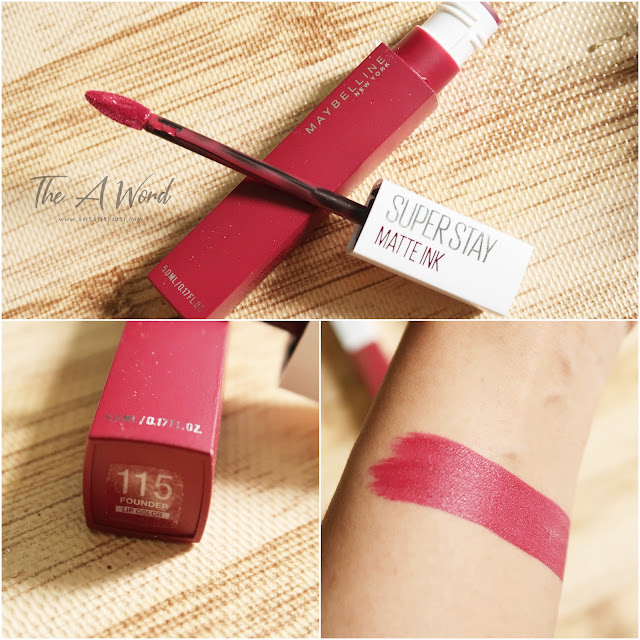 REVIEW Maybelline Super Stay Matte Ink 115 Founder