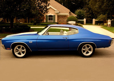 1970 Chevrolet Chevelle Malibu SS Muscle Car Coupe Side Left