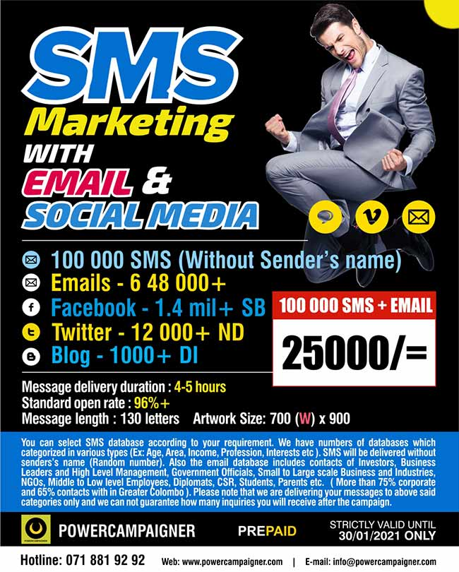 SMS Marketing for 100 000 contacts with Email and Social Media