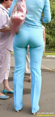 mujeres nalgonas pantalon vestir ajustado