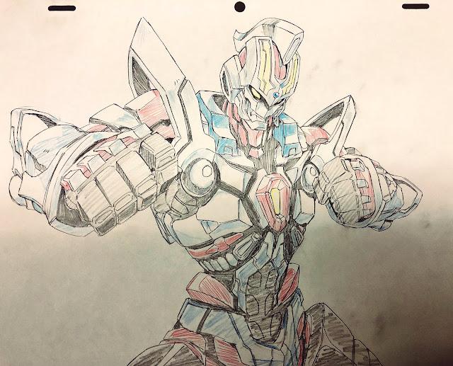 dibujo de mecha robot gigante