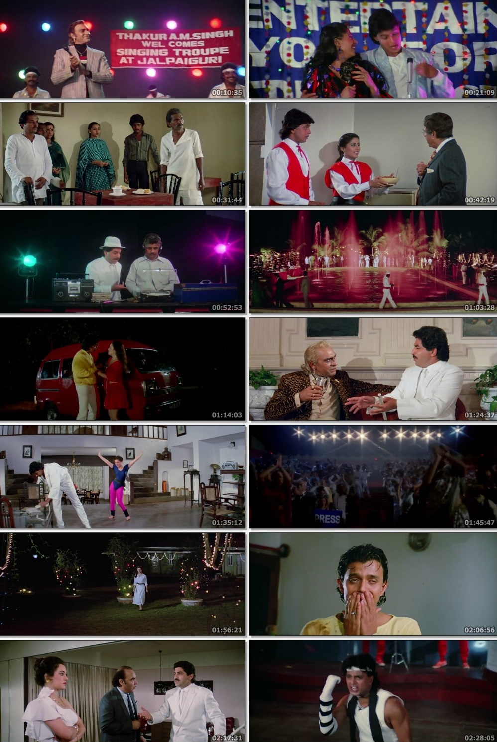 Screen Shot Of Dance Dance 1987 300MB HDRip 480P Full Hindi Movie Watch Online Free Download