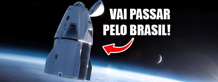 inspiration 4 vai passar pelo brasil - veja no céu