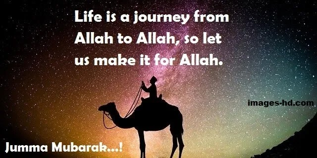 Life is a journey from Allah to Allah