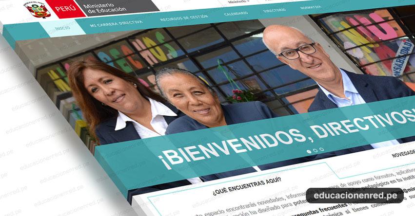 MINEDU lanza página web para Directores de las Instituciones Educativas - www.minedu.gob.pe