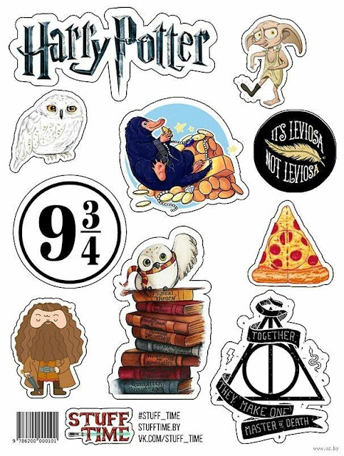 Harry Potter Toon: Free Printable Cake Toppers.