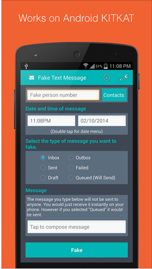 Fake sms Generator apk app free & direct download for Android