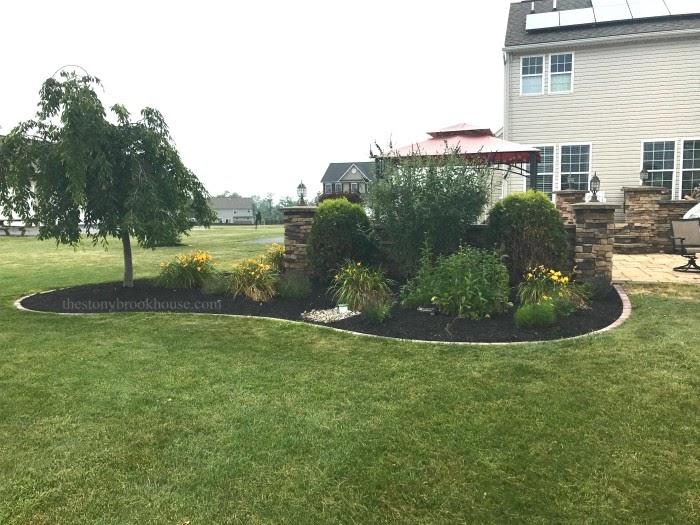 Brick Border Garden mulched