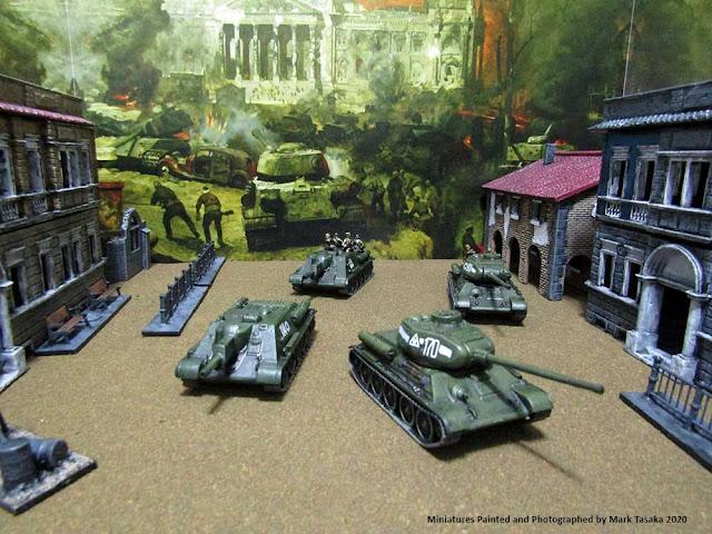 1/72 Italeri T-34/85 tanks & Pegasus Hobbies SU-122 assault guns