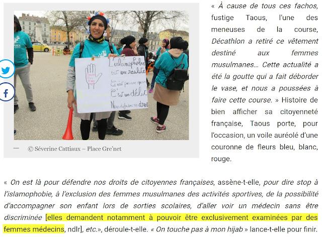 Taous Hammouti rêve d'être soignée uniquement par des femmes médecins