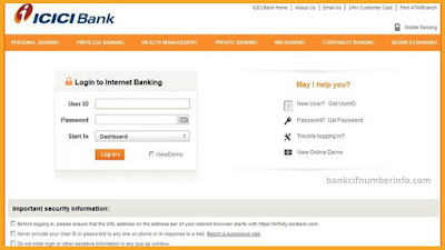 Increase ICICI bank credit card limit using net banking