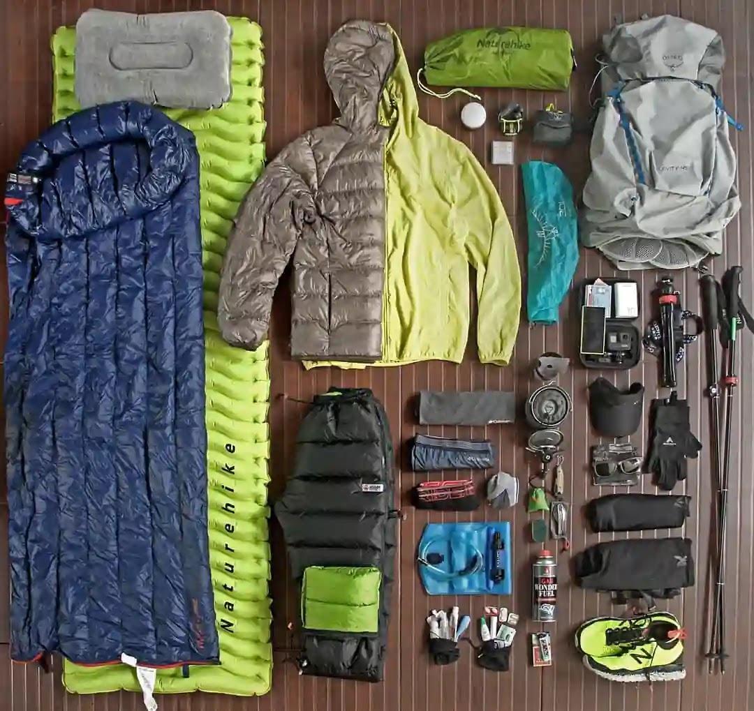 Gear pendakian untuk ultralight hiking - foto instagram ilusafri