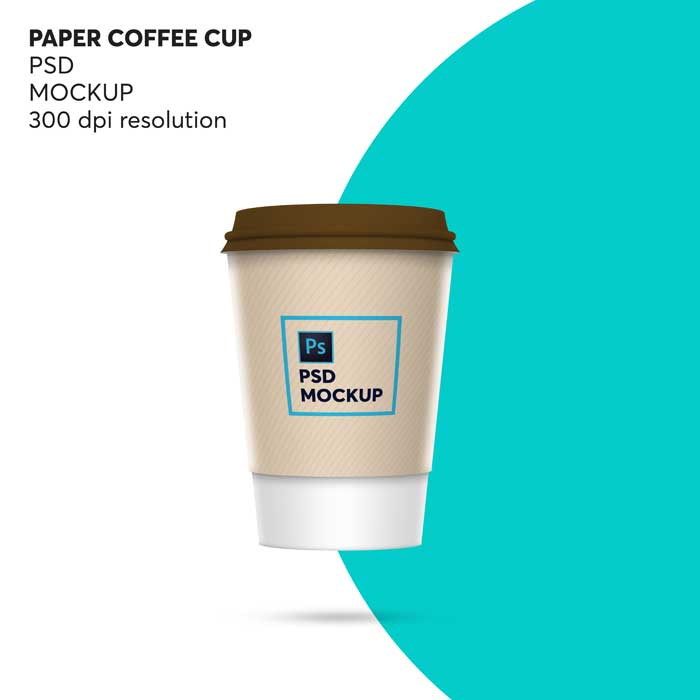 Coffee Paper Cup PSD Mockup