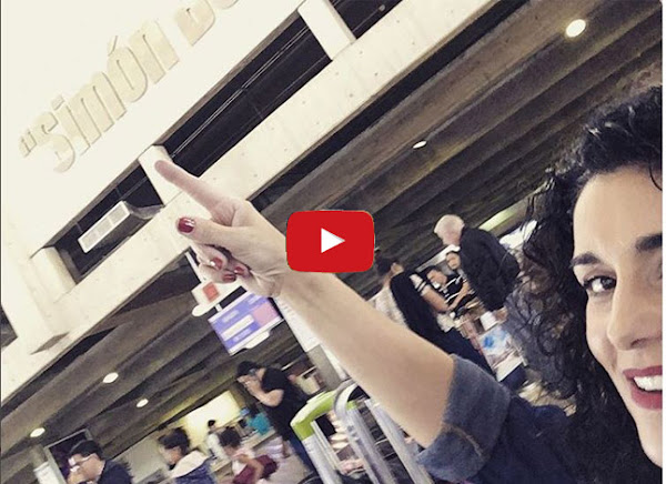 Karina llega para marchar por Venezuela este 19 de Abril