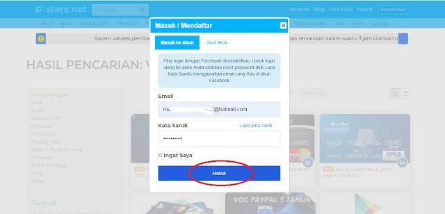 Cara Verifikasi Akun Paypal Murah dari Situs P-Store