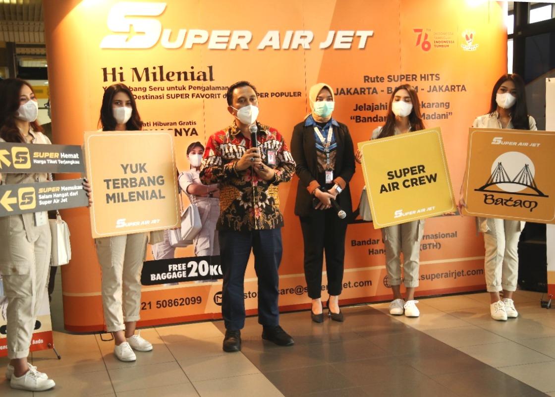 Bandara Hang Nadim Batam Jadi Rute Penerbangan Maskapai Super Air Jet