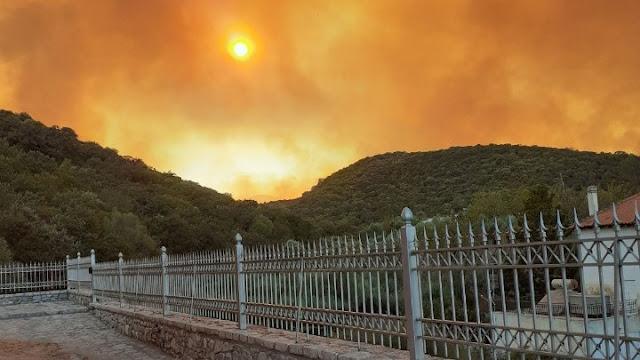 """Ενεργοποίηση του """"Copernicus"""" για τη χαρτογράφηση της πληγείσας από την πυρκαγιά περιοχής στην Ανατολική Μάνη"""
