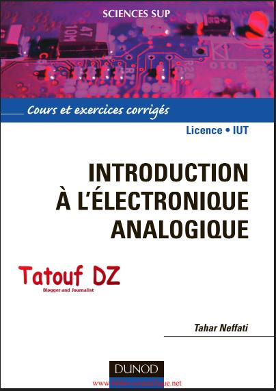 Livre Introduction à l'électronique analogique en PDF