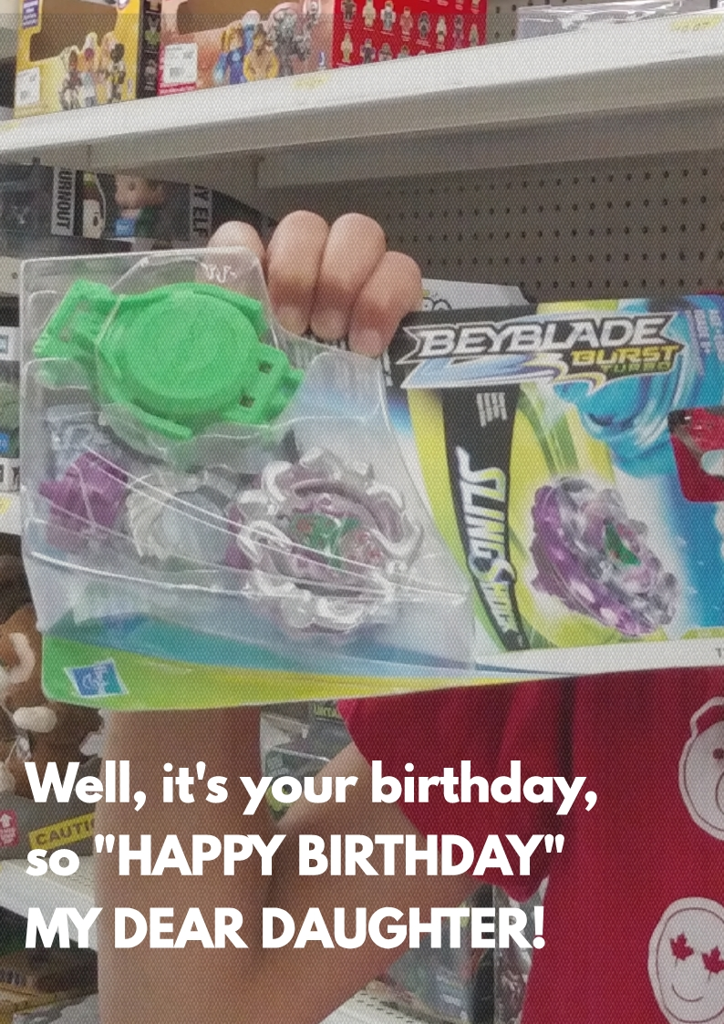 Birthday gift #beyblade