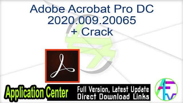 Adobe Acrobat Pro DC 2020.009.20065 + Crack
