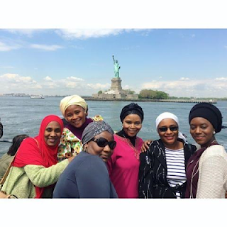 Emir of Kano's Family Members Captured together in a Picture in Abroad