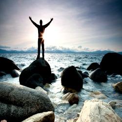 Navegando sobre as rochas