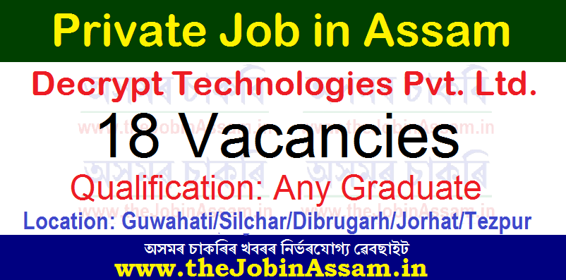 ob Vacancy With Decrypt Technologies Pvt. Ltd. - 18 Territory Sales Executive Vacancy