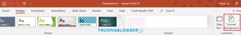 Hướng dẫn chèn hình nền vào Slide Powerpoint