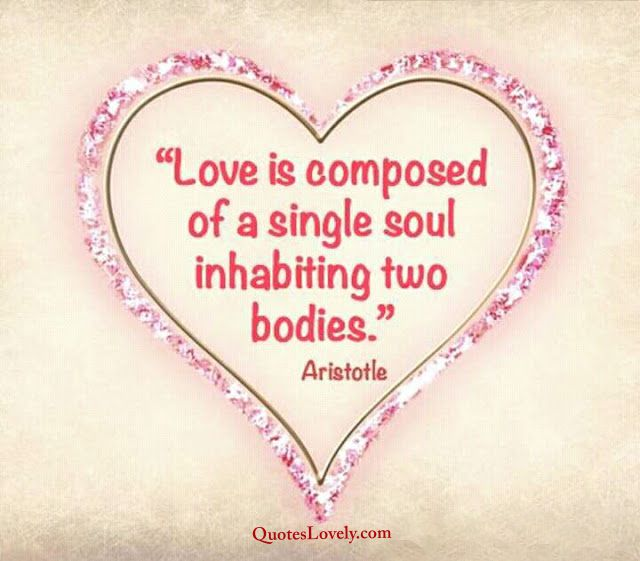 Love is composed of single soul