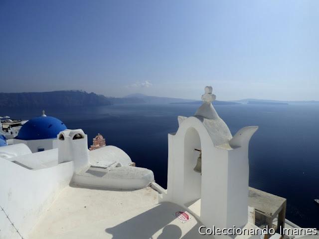 Cupulas azules en Santorini