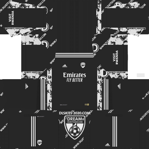 Arsenal F.C. Kits 2020-2021 Nike For Dream League Soccer 2019 (Away Goalkeeper)