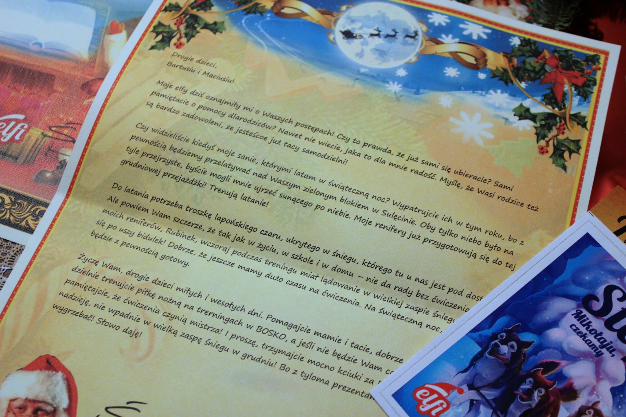 List od Mikołaja ELFI