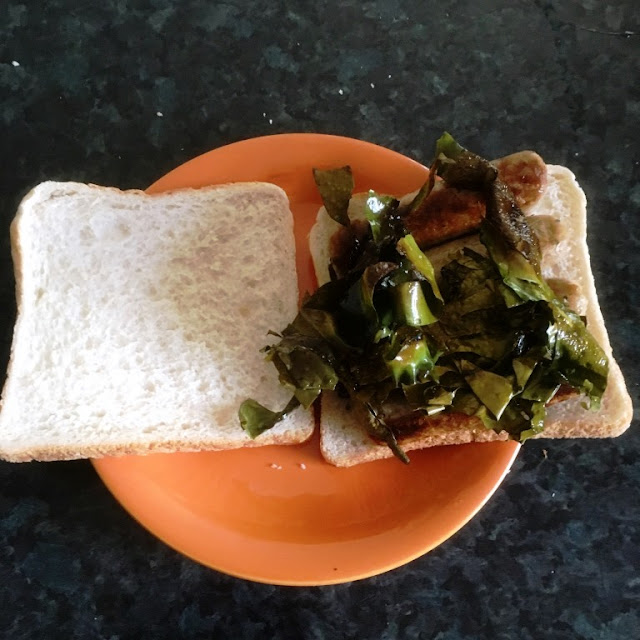 I Sea Bacon - the vegan alternative to Bacon - sausage and bacon sarnie