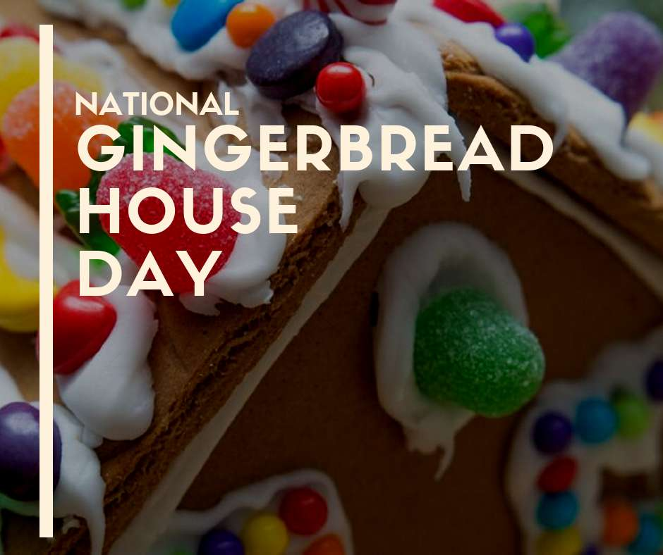 Gingerbread House Day Wishes For Facebook