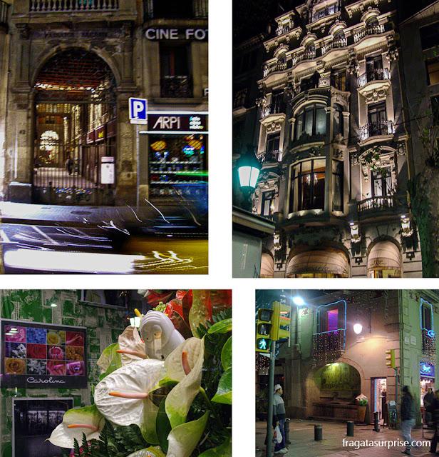 Ramblas de Barcelona à noite