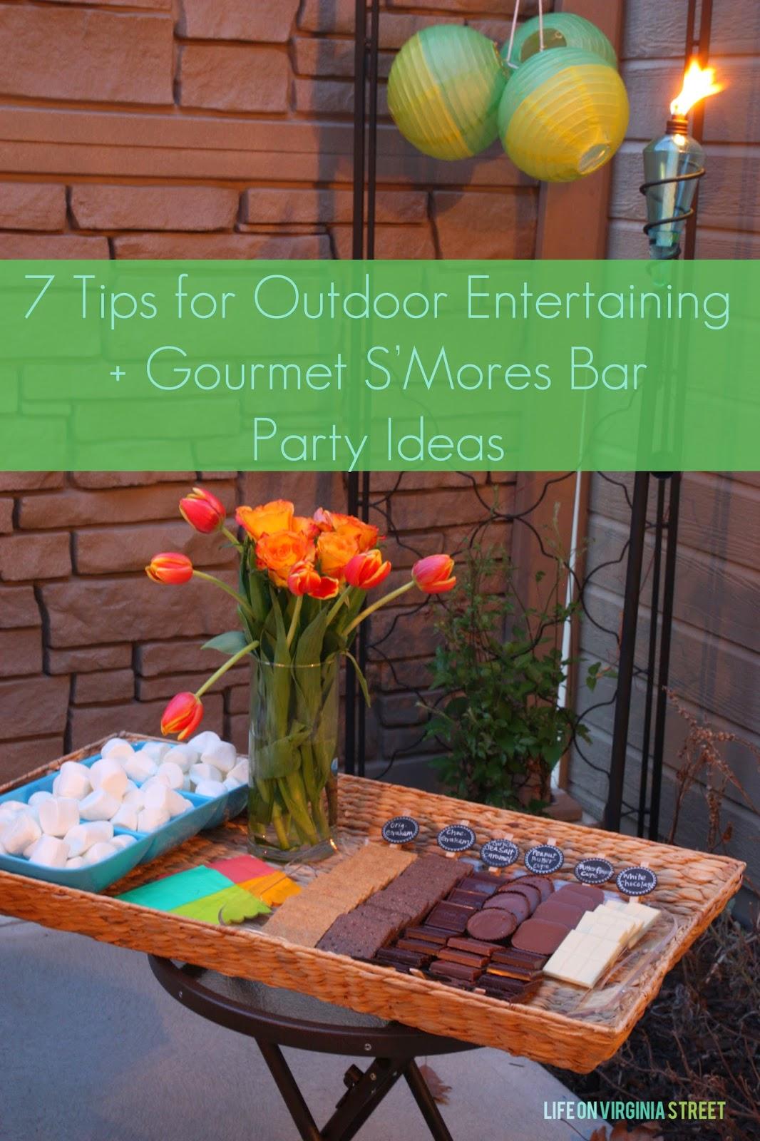 Gourmet S'Mores Bar Ideas & 7 Tips for Outdoor Entertaining