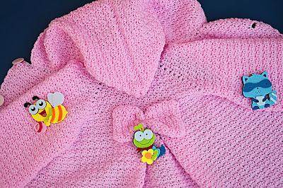 3 - Crochet Imagen Capucha de abrigo rosa por Majovel Crochet